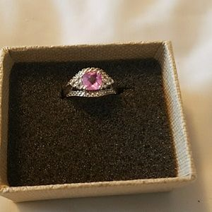 Jewelry - Pink Sapphire and Diamond Ring